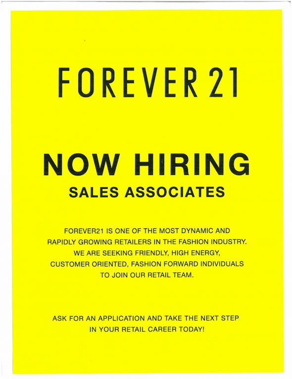 Forever 21 Jobs Review Forever 21 Application