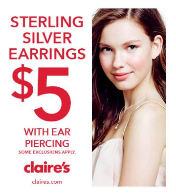 Claire's - Ear Piercing Sale! - Poughkeepsie Galleria