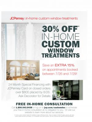 Jc Penney In Home Custom Window Treatment