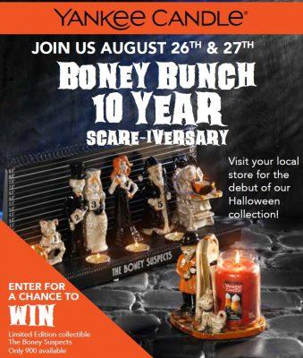 Galleria Mall Halloween 2020 Yankee Candle Boney Bunch 10 Year Scare Iversary   Poughkeepsie