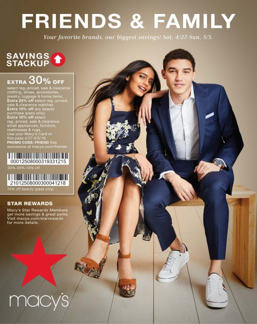 Macys Friends and Family 2019
