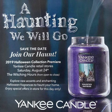 Galleria Mall Halloween 2020 Yankee Candle   A Haunting We Will Go   Halloween Collection
