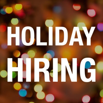 Holiday Hiring image