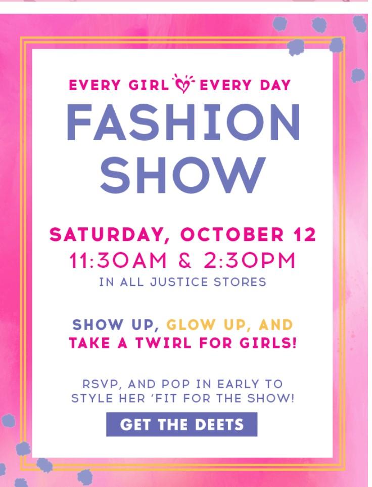 justice fashion show 10.12