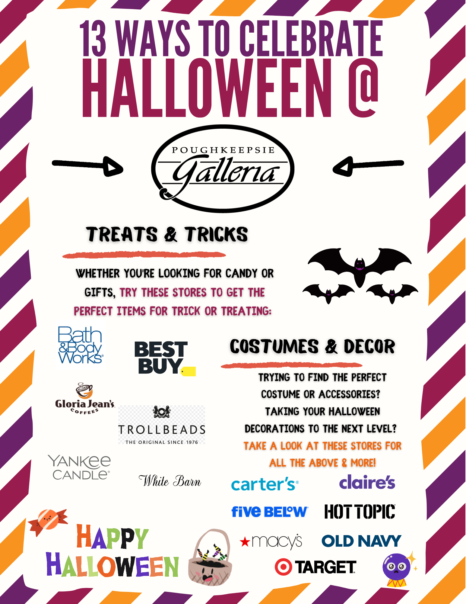 13 ways to celebrate Halloween at Poughkeepsie Galleria